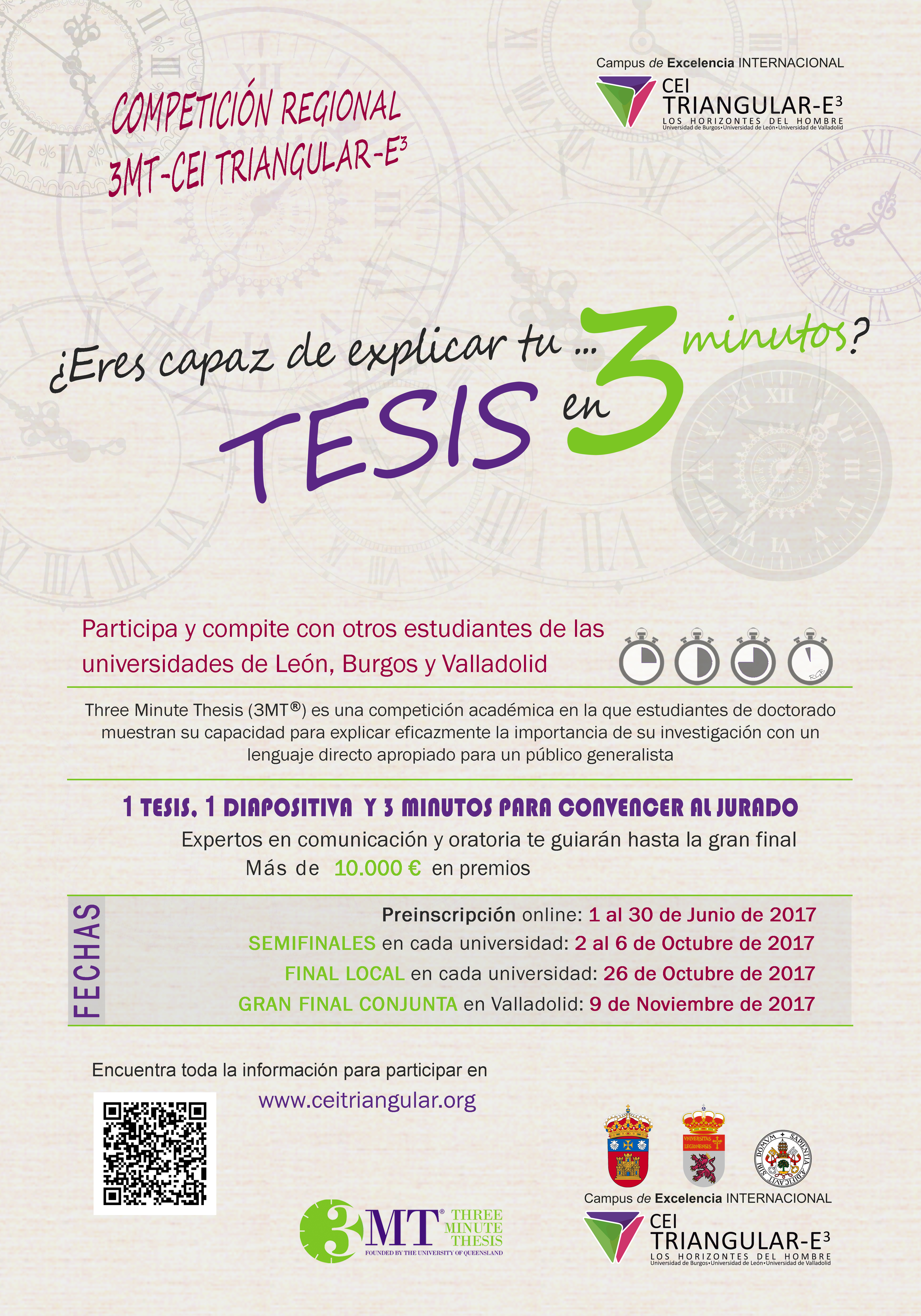 Concurso 3 Minute Thesis - CEI Triangular-E3