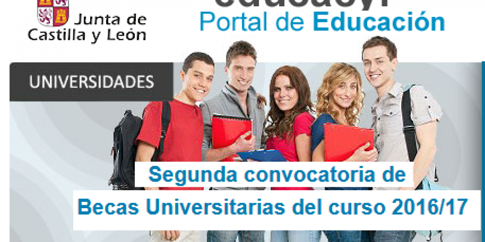 Segunda convocatoria de Becas Universitarias del curso 2016/17